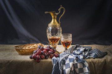 Grapes and wine sur Wim van de Water