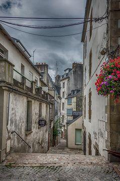Een straatje in Morlaix(Bretagne). sur Don Fonzarelli