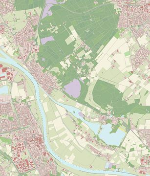 Kaart vanMook en Middelaar