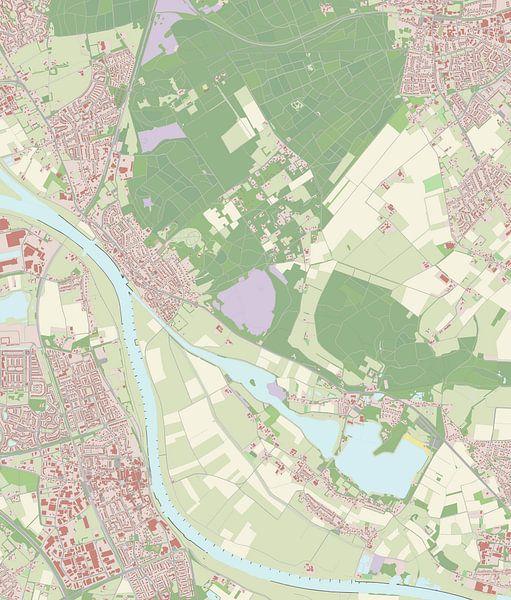 Kaart vanMook en Middelaar van Rebel Ontwerp