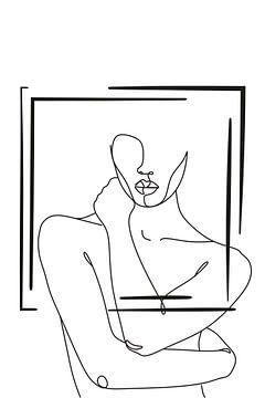 Strichzeichnung Körper von by Tessa