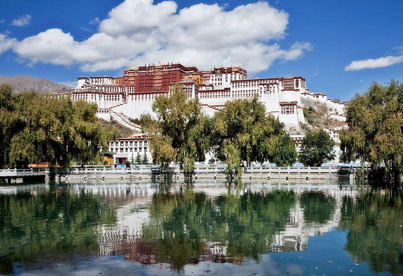 Potala paleis in Lhasa Tibet van Jan van Reij