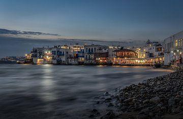Little Venice op Mykonos van Mario Calma