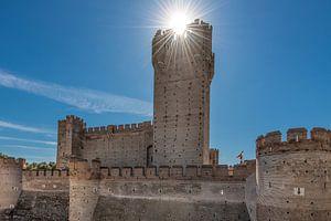 Het kasteel van Medina del Campo in het noorden van Spanje