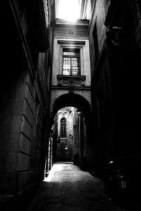Steegje in Barcelona van