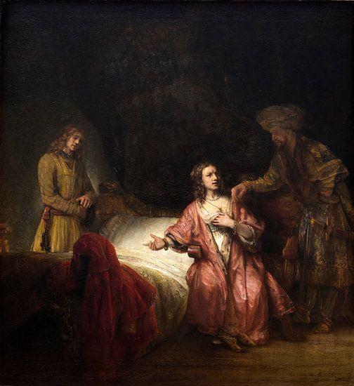 Rembrandt Workshop, Joseph beschuldigd door de vrouw van Potifar van Rembrandt van Rijn