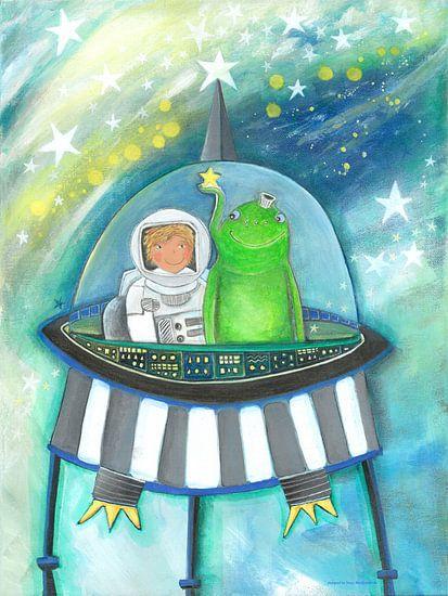 UFO - Schilderij voor Kinderen van Atelier BuntePunkt