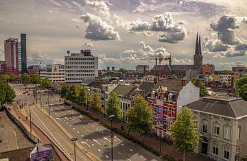 Skyline Tilburg  vanaf de Spoorlaan van Freddie de Roeck