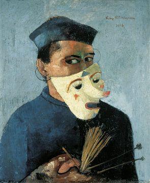 Selbstporträt mit Maske, Felix Nussbaum. 1928 von Atelier Liesjes