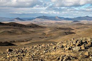 Uitzicht over Möðrudalur in Noord IJsland van