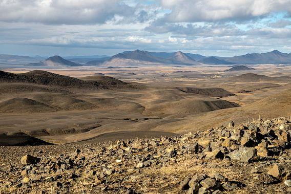 Uitzicht over Möðrudalur in Noord IJsland
