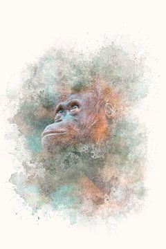 """""""Portret van een mensaap"""" - Photography & Art van - GreenGraffy -"""