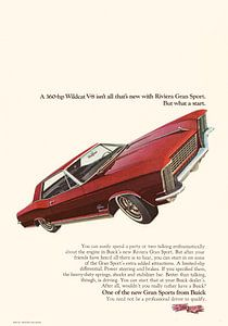 VINTAGE WERBUNG 1965 BUICK RIVIERA GRAN SPORT