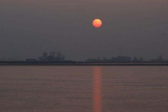 Zonsondergang in Oudega