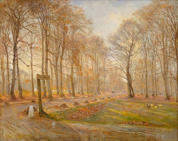 Spätherbsttag im Hirschpark Jægersborg, nördlich von Kopenhagen, Theodor Philipsen von Meesterlijcke Meesters