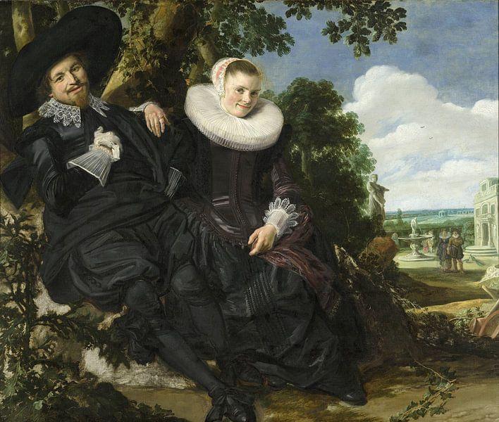 Portrait eines jungen Paares - Frans Hals von 1000 Schilderijen