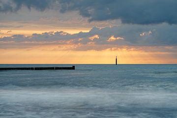 Oostzeekust bij zonsondergang