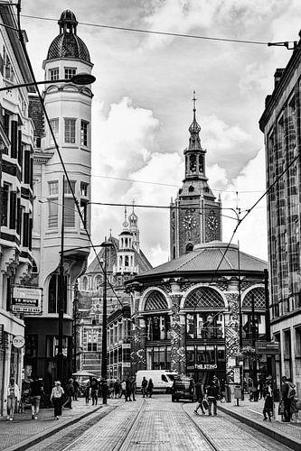 Binnenstad van Den Haag Nederland Zwart-Wit