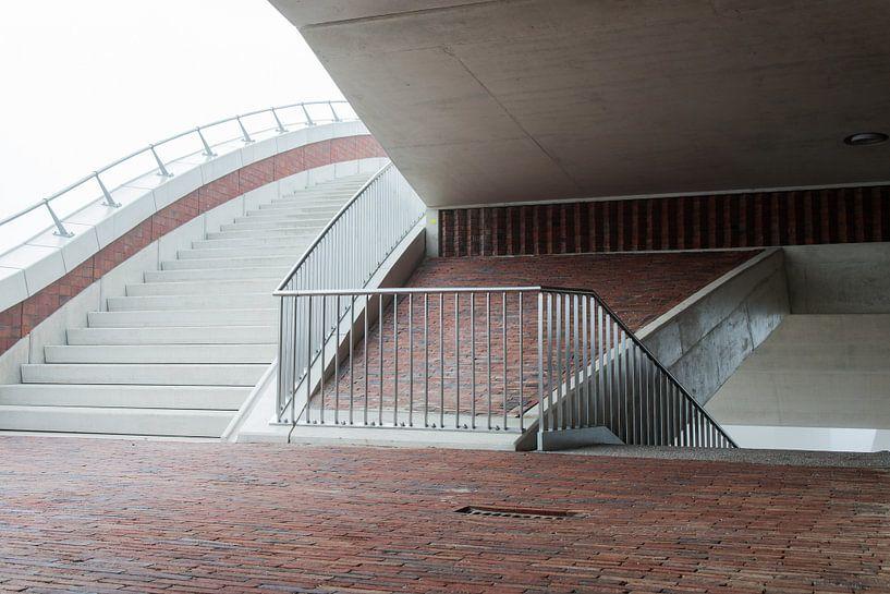 trappenconstructie van de brug de Oversteek van Eus Nieuwenhuizen