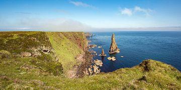 Côte près des cheminées de Duncansby dans le nord de l'Écosse