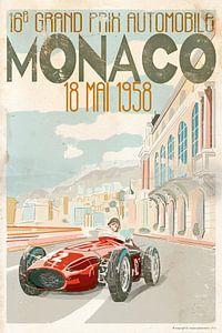 Monaco Grand Prix 1958 van Bert-Jan de Wagenaar