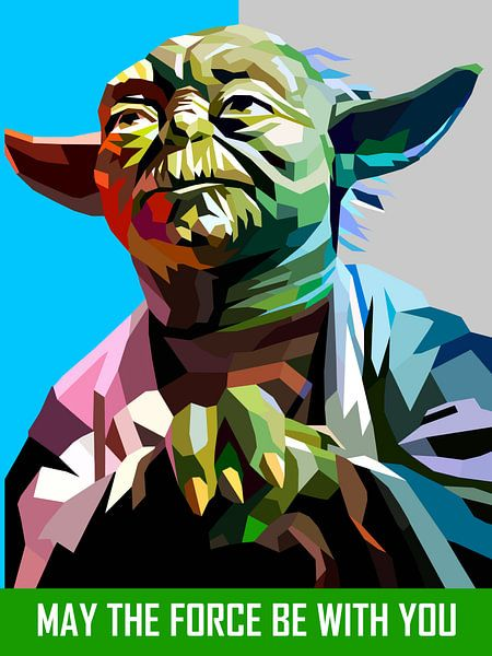 Pop Art Yoda - Star Wars van Jan Willem van Doesburg