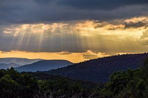 Zonsondergang Zuid-Afrika van Hermineke Pijls