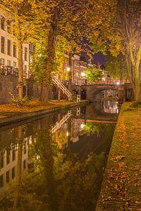 Nieuwegracht in Utrecht in de avond - 12