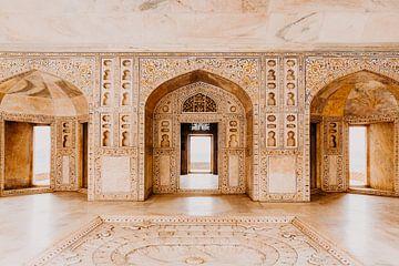 Beau marbre dans le fort d'Agra en Inde sur Yvette Baur