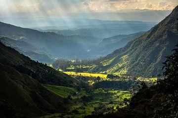 Landschap in de Cocoravallei , Colombia van Floris Heuer