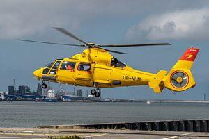 Airbus Helicopters - AS365N3 Dauphin 2, een SAR (Search and Rescue) helicopter van Noordzee Helikopt van Jaap van den Berg