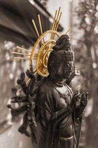 Japanse Bodhisattva Jundei Kannon goddelijkheid van medeleven. van Kuremo Kuremo