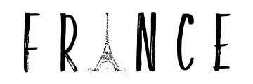 FRANCE Typografie | Panorama  von Melanie Viola