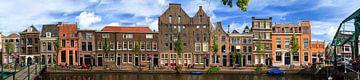 Leiden Oude Rijn panorama van
