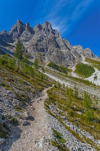 De Sextener Rotwand in de Dolomieten in Italië - 1 van
