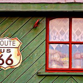 Route 66 van Yvonne Blokland