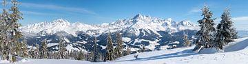 """Bergpanorama """"Dachstein in de Winter"""" van Coen Weesjes"""