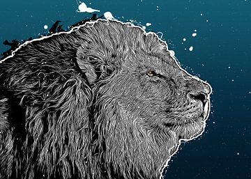 Löwen-Kunst #Löwe #Tiere von JBJart Justyna Jaszke