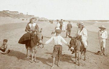 Esel reitet am Strand von Zandvoort, Knackstedt & Näther, 1900 - 1905