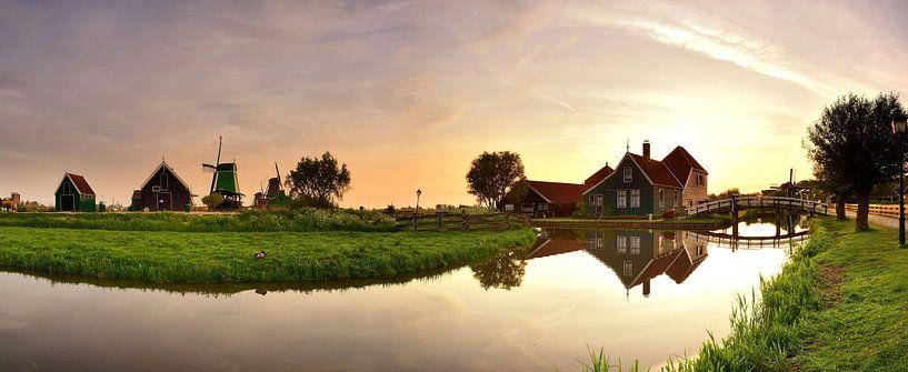 Panorama Zaanse Schans van John Leeninga