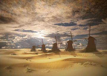 Niederländische Landschaft in der Zukunft. von Dray van Beeck
