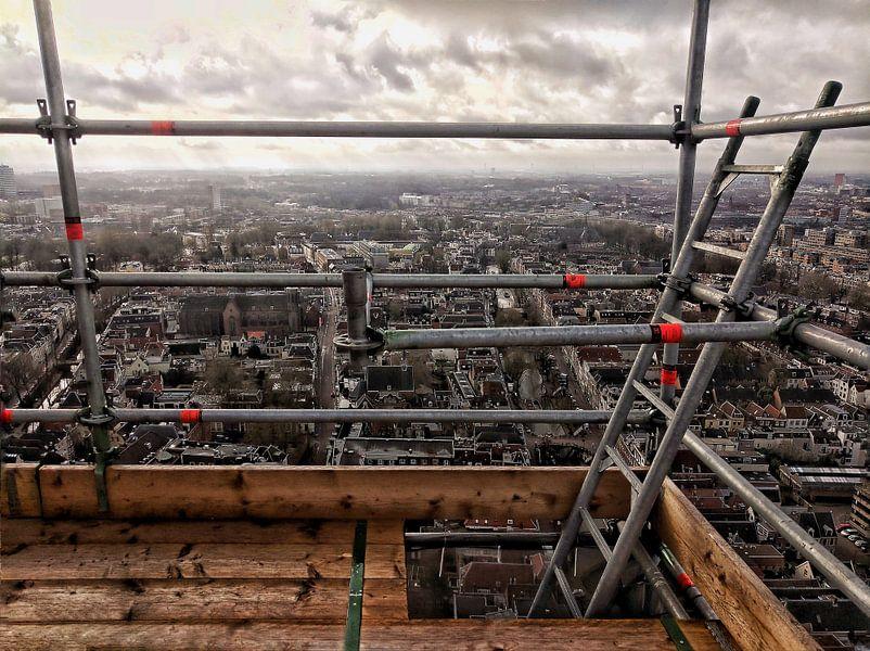 Uitzicht vanuit de Domtoren in Utrecht van Ruben van Gogh