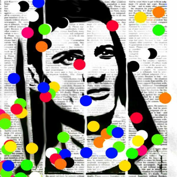 Newspaper Point Pop Art PUR van Felix von Altersheim
