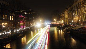 Amsterdamse grachten als highway von Gaby  van der Peijl