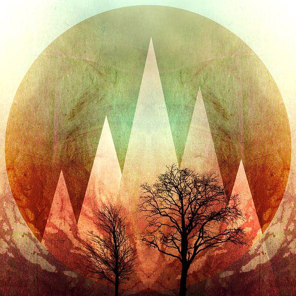TREES under MAGIC MOUNTAINS I-B van Pia Schneider
