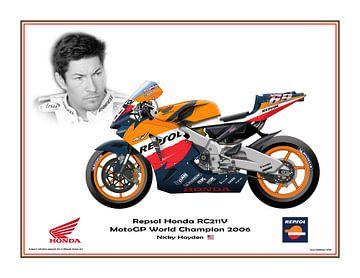 Honda RC211V 2006 #69 Nicky Hayden (USA) Weltmeister von Adam's World
