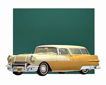 Klassieke auto – Oldtimer Pontiac Safari Station wagon 1956 van Jan Keteleer