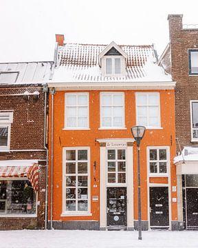 Niederländisches Orangenhaus im Schnee des Winterwunderlandes - Hanzestad Zutphen Architecture von Sun Dances