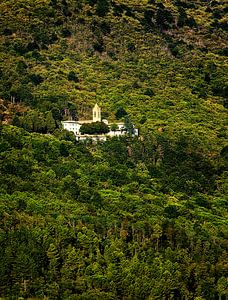 Italiaanse heuvel met klooster