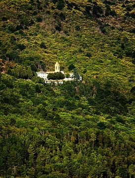 Italiaanse heuvel met klooster sur Paul Teixeira